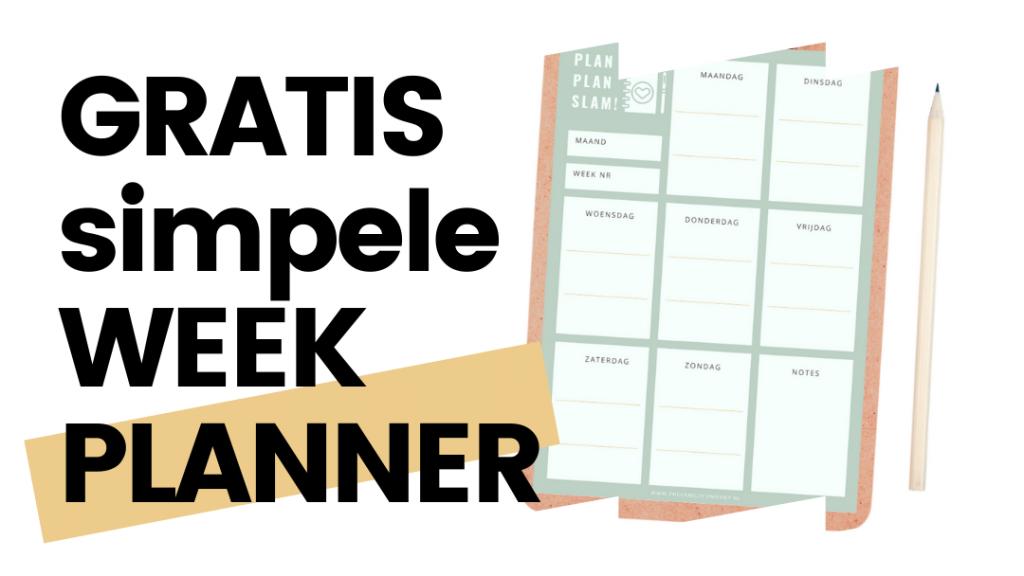 gratis simpele week planner