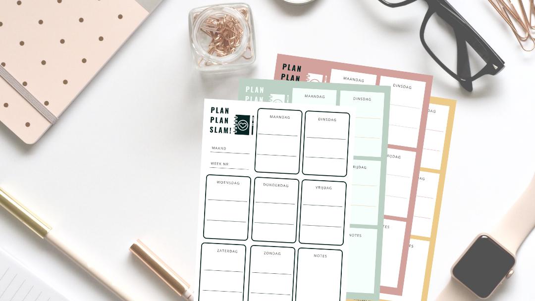 simpele week planner gratis
